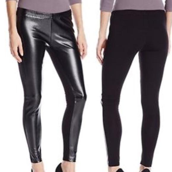 42fbf5f88ace19 Jessica Simpson Pants   Faux Leather Panel Leggings   Poshmark